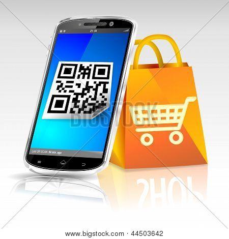 Smartphone shopping bag online shop