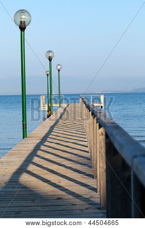 The wooden platform in Dardanelles.