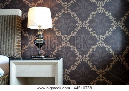 Side Table and classy lamp