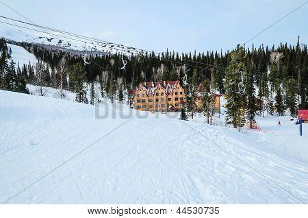 Ski Resort Sheregesh, Mountain Shoria, Kemerovo Region, Russia.