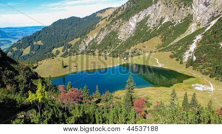 Lake In Alpine Surrounding