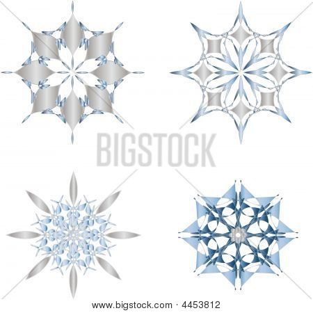 Snowflake Set - Vector