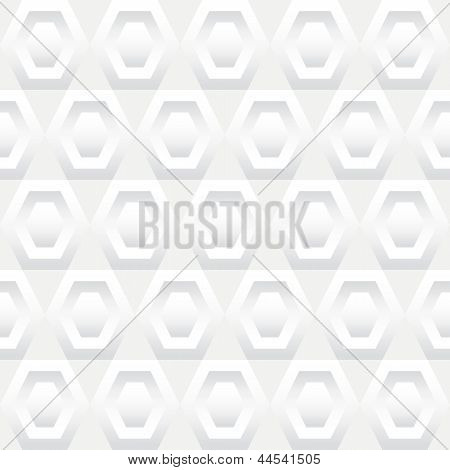 Shades Of White Hexagons Seamless Background Tile