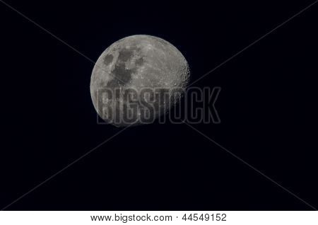 Three-Quarter Moon at Night
