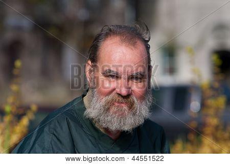Portrait Homeless Man