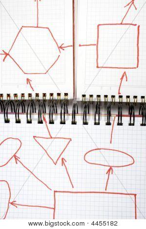 Three Open Notebooks