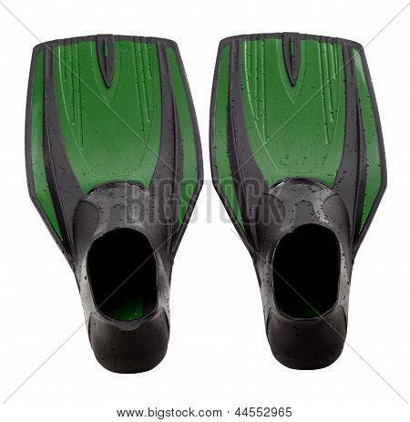 Green Swim Fins