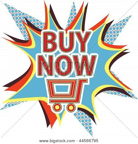 Buy now vector sign