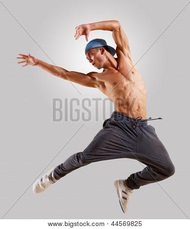 young man dancing hip hop