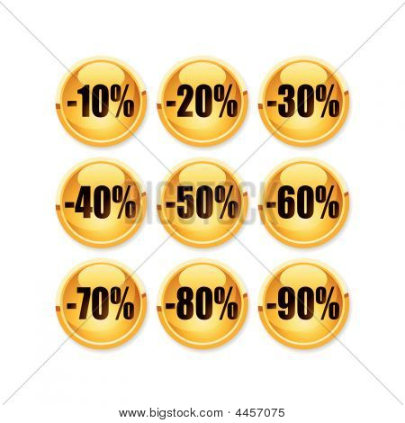 Discount Gold Button