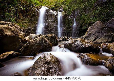 Tropical Waterfall Hana Maui