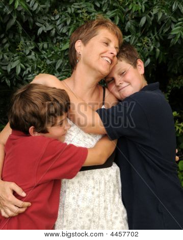 Loving, Happy Young Family
