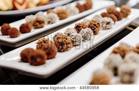 Chocolate Truffles Close-up