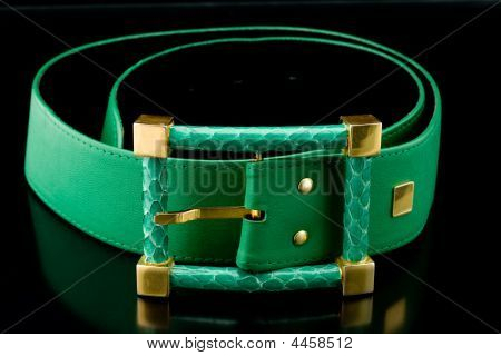 Green Retro Belt