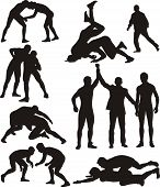 freestyle wrestling and greco-roman wrestling - competitive contact sport poster