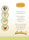 new baby announcement card, illustration in vector format poster