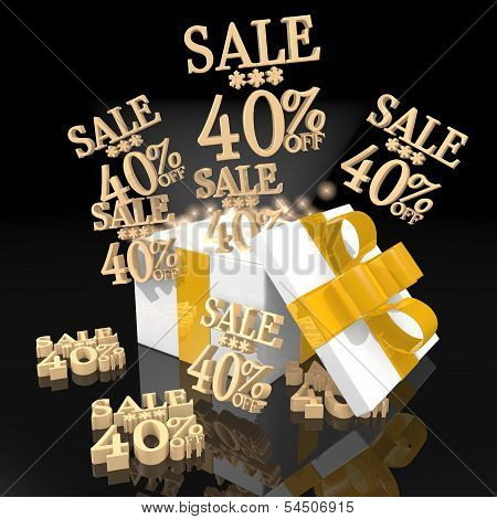 Noble Christmas Present With Christmas Sale 40 Percent Off Icon