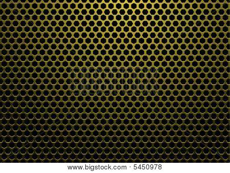 Sechskant Metall Gold