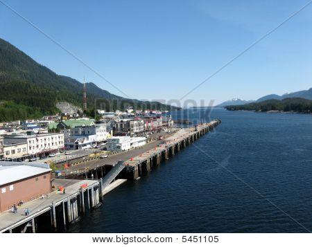 Docking In Ketchikan, Alaska