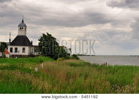 Church In Durgerdam A Small Village Near Amsterdam