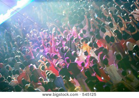 Crowd In Blur Motion