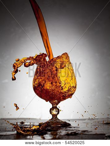 Orange liquid splash
