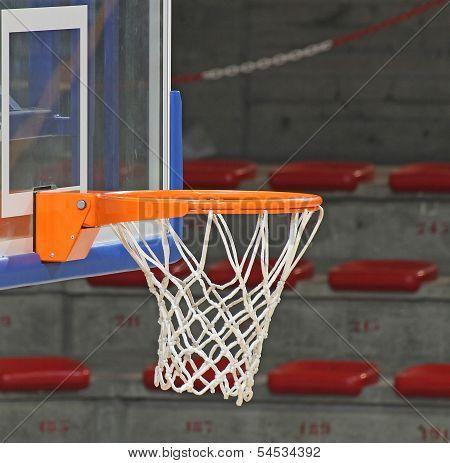 Basketball Hoop Inside The Sports Hall