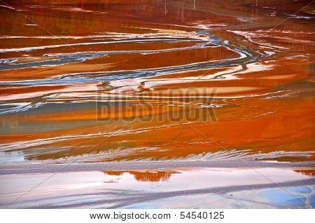 Copper mine water contamination in Geamana, near Rosia Montana, Romania