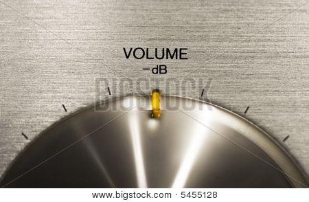 Volume Push Button On A Hi-fi