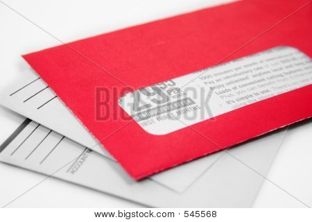 Red Advertising Envelope