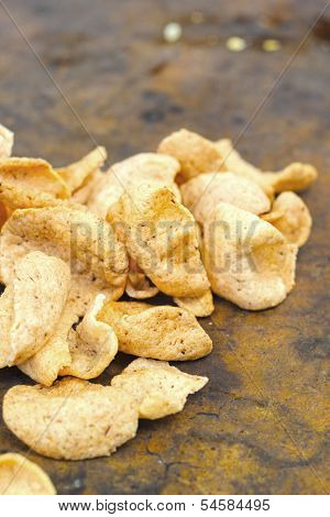 Prawn Crackers On The Table