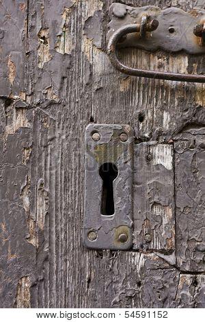 Keyhole Of Old Doorlock 17