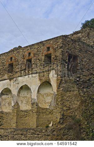 Landscape Of Pompeii Ruins