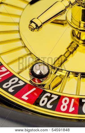 roulette gambling in the casino. the ball rolls.