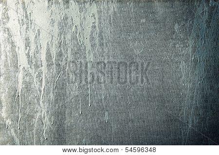 Paint Streaks On A Grunge Canvas