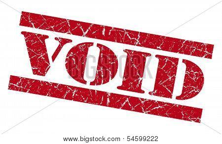 Void Red Grunge Stamp