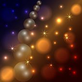Vector abstract star and pearl dark background with Fire Particles poster