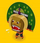 Indonesian Reog ponorogo. Vector illustration poster