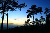 Twilight mountian in meahongson province of  thailand poster