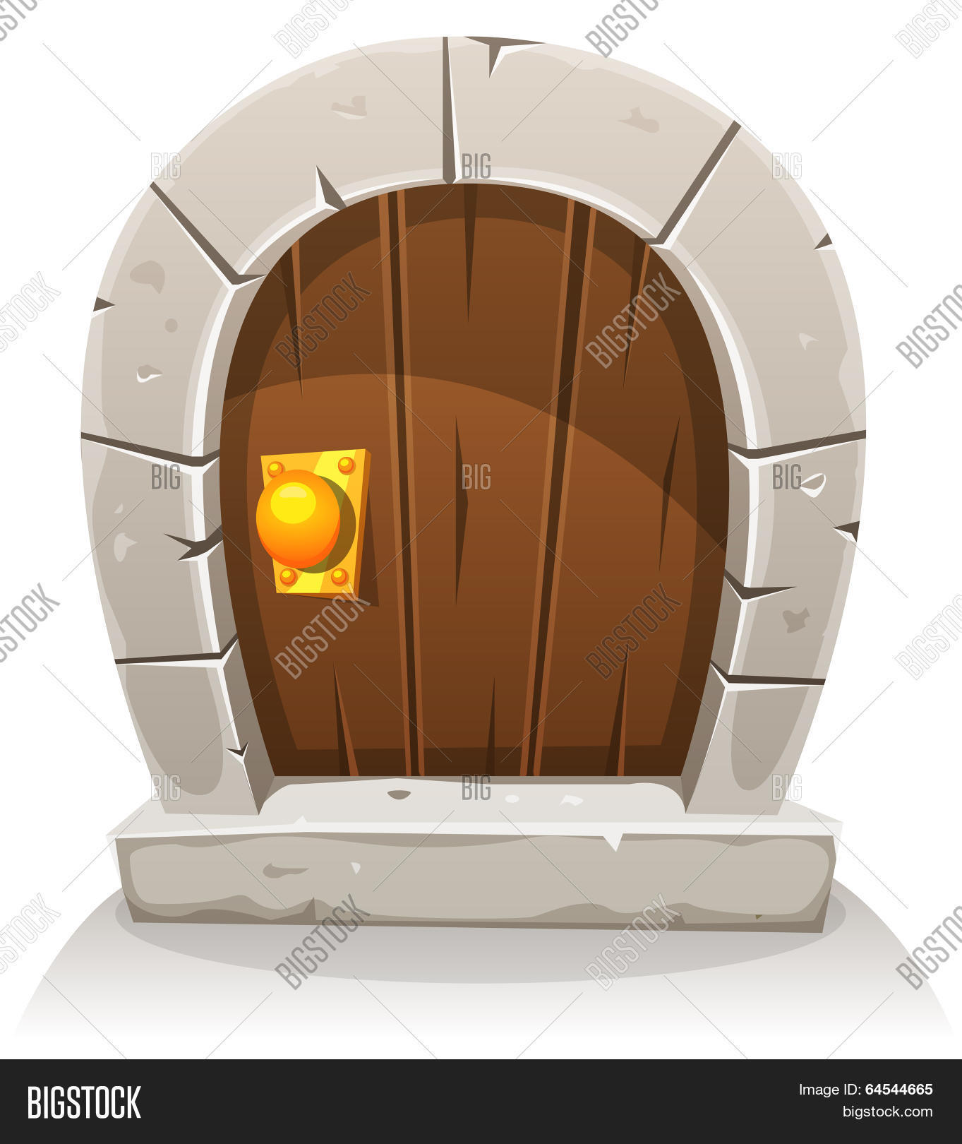 Cartoon Wooden And Stone Hobbit Door  sc 1 st  Bigstock & Cartoon Wooden Stone Hobbit Door Vector \u0026 Photo   Bigstock