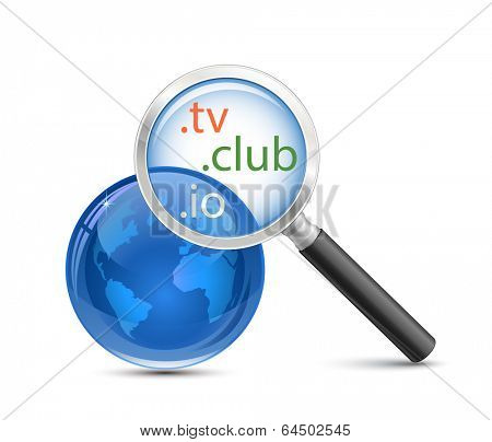 Domain search tool. .io .tv .club domain finder