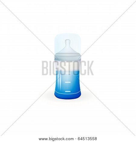 Illustration of baby feeding bottle