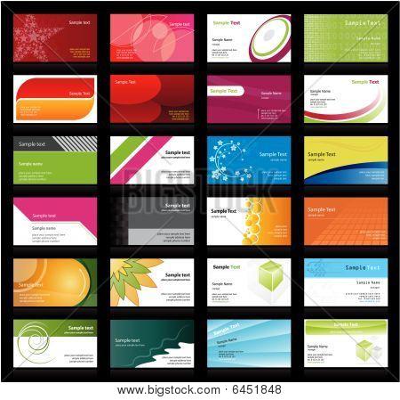 Conjunto de cartões de visita