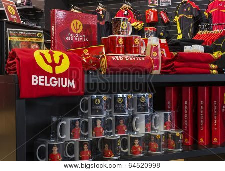 Regalia Of The Belgian National Soccer Team.
