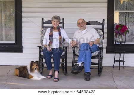 Old Folks On The Porch.