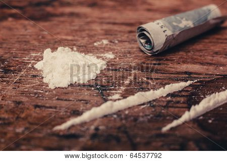 Cocaine And Banknote