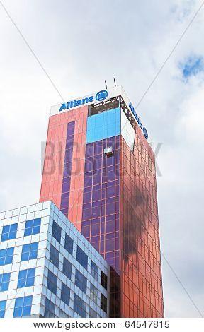 View Of Edificio Allianz (torre Allianz) in Barcelona