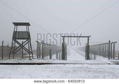 WWII prisoner camp at Auschwitz in Poland