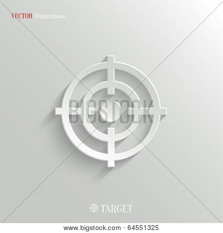 Target icon - vector web illustration easy paste to any background poster