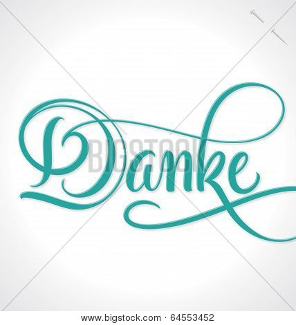 DANKE / THANK YOU hand lettering